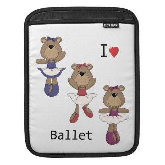I Heart Ballet Bear Ballerina s Sleeve For iPads
