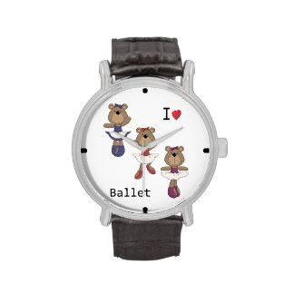 I Heart Ballet Bear Ballerina's Wrist Watch