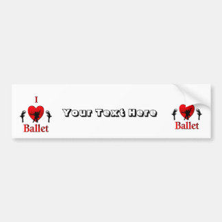 I Heart Ballet Bumper Sticker