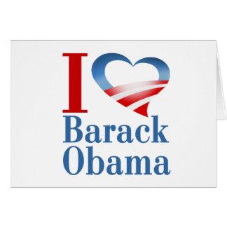 I Heart Barack Obama Card