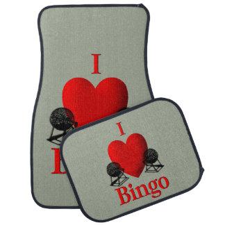 I Heart Bingo Car Mat