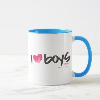 I Heart Boys Magenta Mug