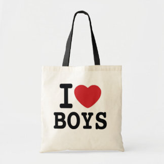 I Heart BOYS New York Inspired Tote Bag