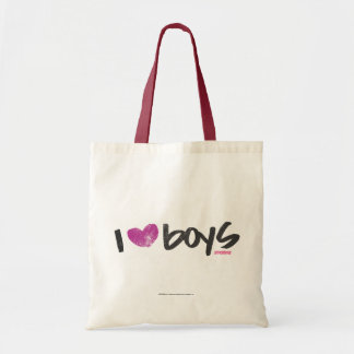 I Heart Boys Purple Tote Bag