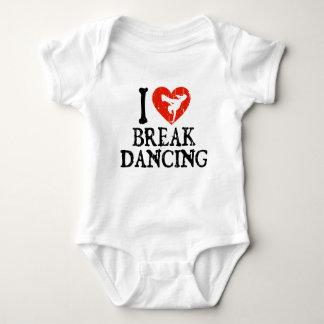 I Heart Breakdancing - Girl Baby Bodysuit