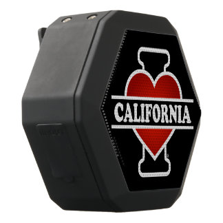 I Heart California Black Bluetooth Speaker