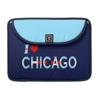 I Heart Chicago, Chicago Flag Design Sleeve For MacBooks