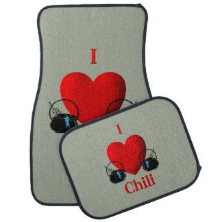 I Heart Chili Car Mat