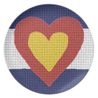 I heart Colorado, Decorative Plate