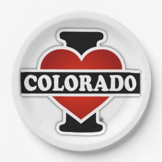 I Heart Colorado Paper Plate