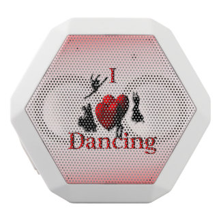 I Heart Dancing White Bluetooth Speaker