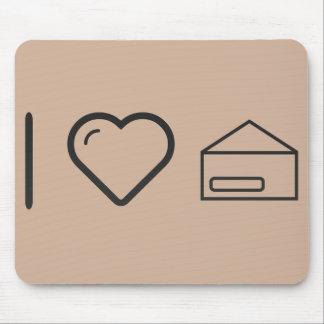 I Heart Envelope  Shells Mouse Pad