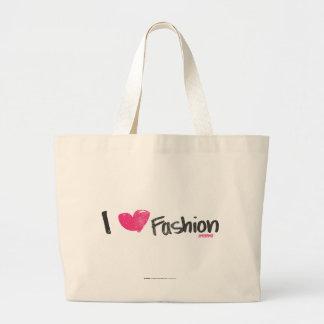 I Heart Fashion Magenta Canvas Bags