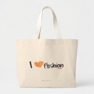 I Heart Fashion Orange Tote Bags