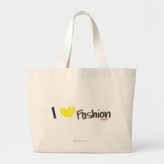 I Heart Fashion Pink Large Tote Bag