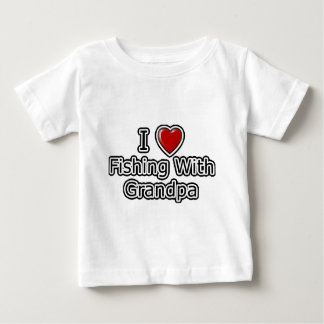I Heart Fishing with Grandpa Baby T-Shirt