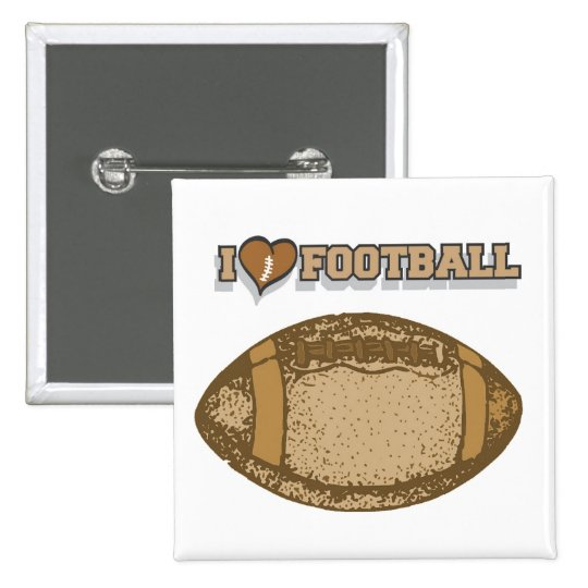 I Heart Football T-shirts and Gifts 15 Cm Square Badge
