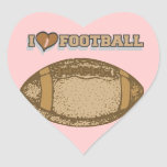 I Heart Football T-shirts and Gifts Heart Sticker