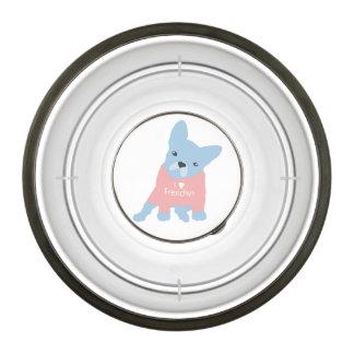 I Heart Frenchy Dog Bowl