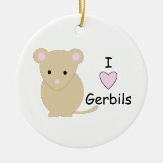 I Heart Gerbils Ornament
