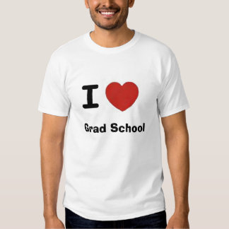 I heart grad school tee shirt