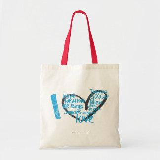 I Heart Graffiti Aqua Tote Bag