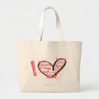 I Heart Graffiti Pink Large Tote Bag