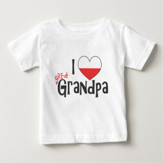 I Heart Great Grandpa - Polish Baby T-Shirt