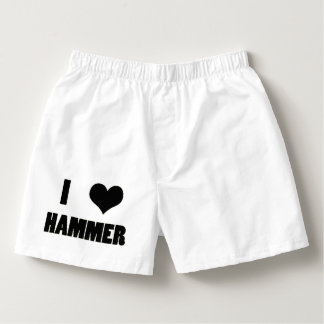 I Heart Hammer, Hammer Throw Underwear Boxers