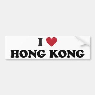 I Heart Hong Kong China Bumper Sticker