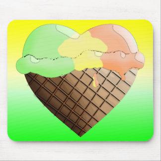 I (Heart) Ice Cream! Rainbow Sherbert Mouse Pad