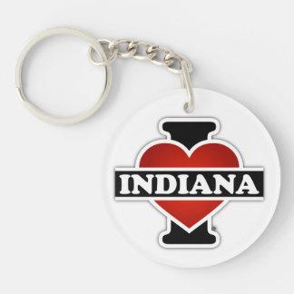 I Heart Indiana Key Ring