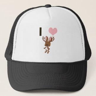 I heart Jackalope Trucker Hat