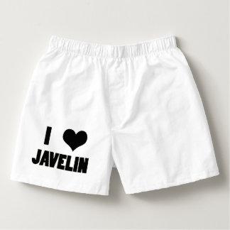 I Heart Javelin, Javelin Throw Underwear Boxers