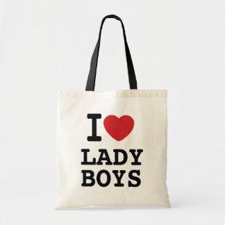I Heart Lady Boys Tote Bag