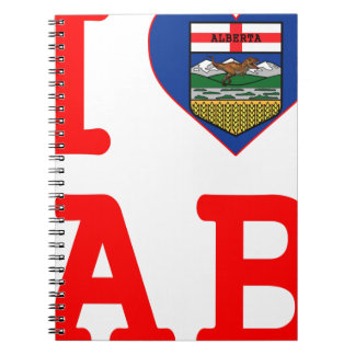 I HEART LOVE ALBERTA NOTEBOOK