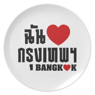 I Heart (Love) Bangkok [Krung Thep] Plate