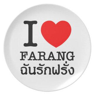 I Heart (Love) Farang Plate