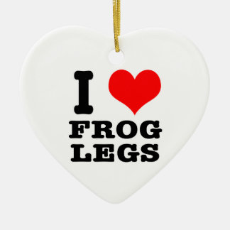 I HEART (LOVE) frog legs Christmas Ornament