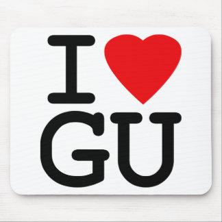 I Heart Love Guam Mouse Pad