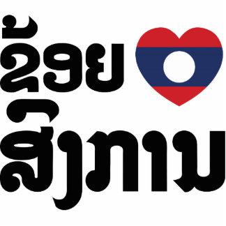 I Heart (Love) Songkan Laotian Language Acrylic Cut Out