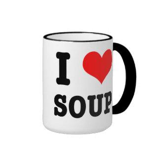 I HEART (LOVE) SOUP RINGER MUG