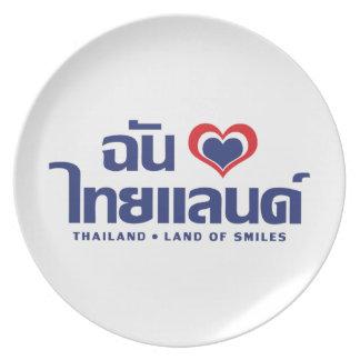 I Heart (Love) Thailand ❤ Thai Language Script Plate