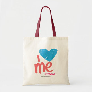 I Heart Me Aqua/Pink Tote Bag