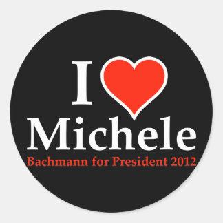 I Heart Michele Bachmann Classic Round Sticker