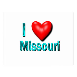 I Heart Missouri Postcard