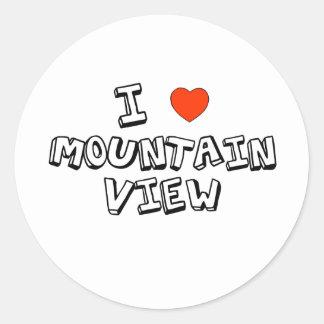 I Heart Mountain View Classic Round Sticker
