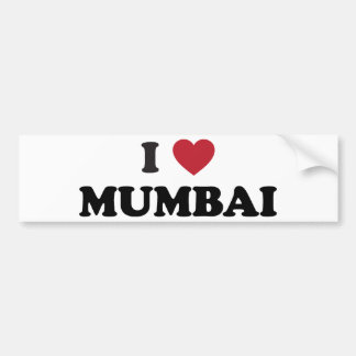 I Heart Mumbai India Bumper Sticker