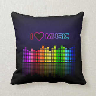 i heart music equalizer pillow cushion