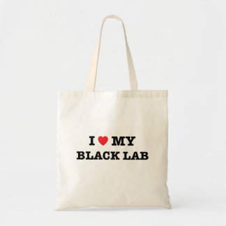 I Heart My Black Lab Tote Bag